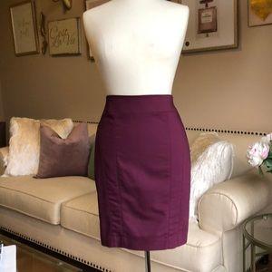 Wine color pencil skirt